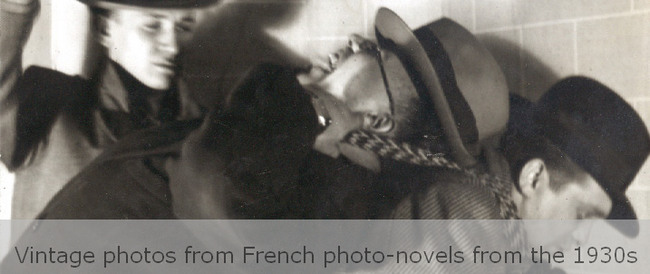 Vintage photos from French photo-novels from the 1930s